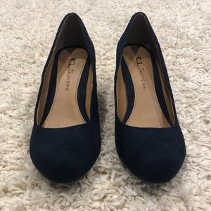 CL by Laundry Navy Suede Wedge Heel / Pump